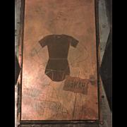 1953 HANES Men's Underwear Advertisement Copper Plate Printing Block