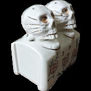 Patent TT Skull Nodder Salt and Pepper Shakers - Creepy, Kooky, Campy