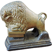 Rare 1870's Antique Embossing Seal Press in the form of a Buffalo