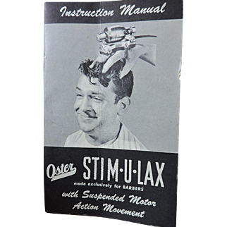 Stim-U-Lax Massage Instrument...for barbers Model M-3 Complete in Box with Instructions