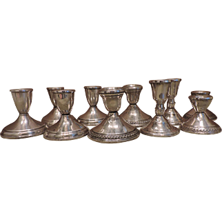10 Sterling Silver Candlesticks - 5 Matched Sets - Instant Collection