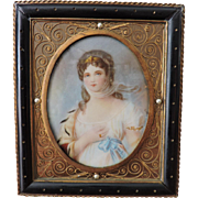 Late Georgian/Early Regency Miniature Portrait of Louise, Queen of Prussia - Signed Fuchs