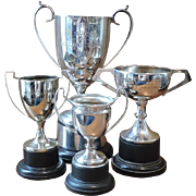 Silver Plated Trophies - 4 Piece Lot - Instant Collection - EPNS