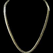 """18K Yellow Gold 20"""" Herringbone Chain Necklace"""