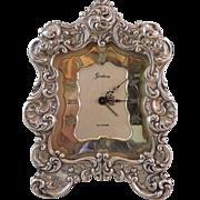 GORHAM Sterling Silver CYMA Alarm Clock - Modedl 321C Circa 1950
