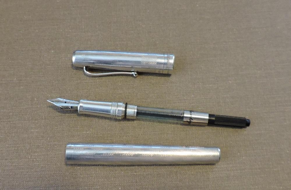 Sterling Silver Montegrappa 1055 Vi 1912 Fountain Pen With