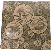 Japanesque Aesthetic Transfer Printed Tile Mintons - Circa 1880