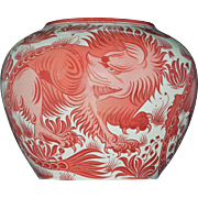 William de Morgan arts and crafts lustre vase