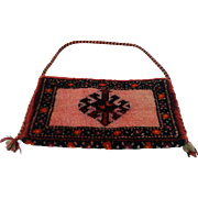 Hand woven oriental wool bag