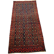 Authentic Hand Knotted Persian Rug. Circa 1930