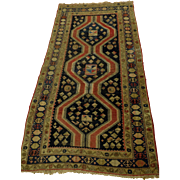 Authentic Hand Knotted Persian Rug. Circa 1915