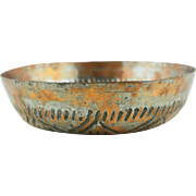 Hand wrought copper Turkish Bath (Hammam) bowl from the old city of Istanbul