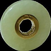 SENZANOME Jade Coin Collections. Piece 009-002 Certified Jadeite Jade