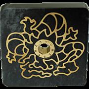 SENZANOME Jade Coin Collections. Piece 010-010 Dragon. Certified Jadeite Jade