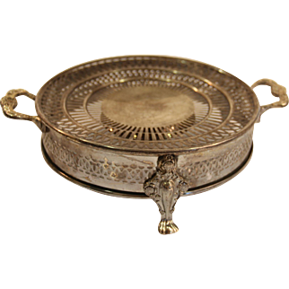 Antique Silver Plated Hot Pot