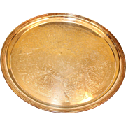 Beautifully decorated Vintage Brass Tray