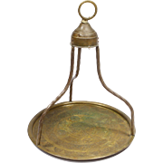Antique Hand Wrought Copper Traditional Turkish Tea Holder from Old Istanbul