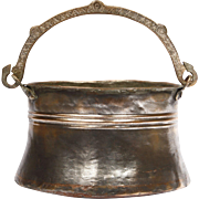 Hand wrought Anatolian Copper Bucket for Yoghurt Preservation