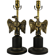 Vintage American Federal Eagle Table Lamps