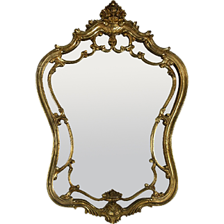 1960's Italian Gilt Carved Wood Mirror