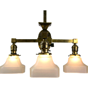 Period American Arts & Crafts Four Light Fixture