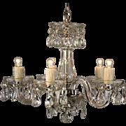 Vintage Petite Crystal Chandelier