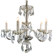 Vintage Five Light Crystal Chandelier