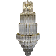 1960's Lucite Acrylic Cascading Chandelier from the University of Northern Colorado's Grand Ballroom