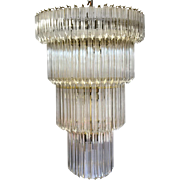 1960's American Lucite Acrylic Cascading Chandelier from the University of Northern Colorado's Grand Ballroom