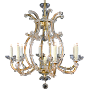 9 Light Maria Theresa Bohemian Crystal Chandelier