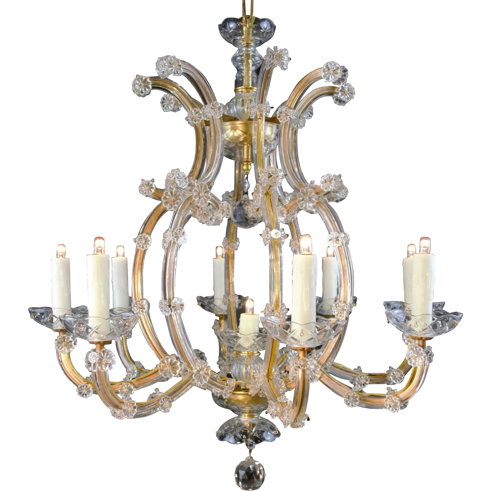 9 Light Maria Theresa Bohemian Crystal Chandelier Table M