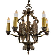 Late 1920's American Five Light Chandelier