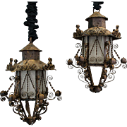 Vintage Crafted Iron Lanterns