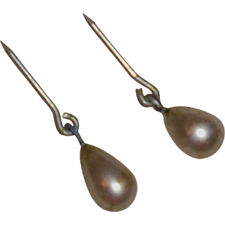 Old Store Stock *1950's Pearl Teardrop Earrings* for Cissy or Similar doll