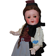 Wonderful Heubach *Painted Bisque Toddler* Original Ethnic Costume