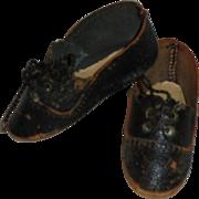 Antique German *Lace Up Doll Shoes* Size 2
