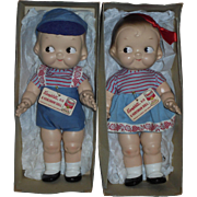 Wonderful Pair **CAMPBELL KIDS NMIB** by Horsman
