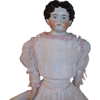 "Beautiful 30"" *German China Head Doll* circa 1880's"