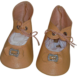 Excellent *Vintage Doll Shoes* with Toe Buckle