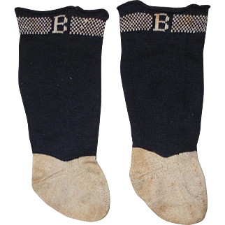 "Antique ~Doll Socks ~ Marked ""B"""