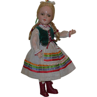 """Rare 14"""" Hedwig Doll """"Cecilia"""" ~from Marguerite de Angeli's book """"Up the Hill"""""""