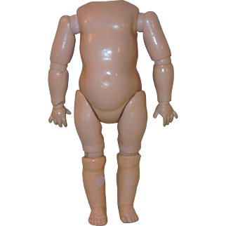 Antique German *Slant Hip Toddler Body* for  Bisque Head Doll