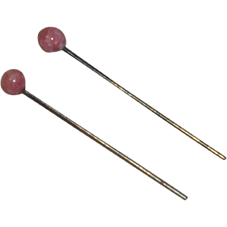 Antique *Pink Glass Earrings* for Your Antique Doll