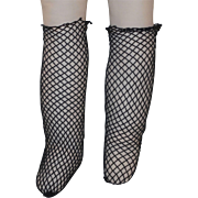 Antique ~ Fishnet Doll Socks / Stockings ~ for Fashionable Lady Doll