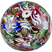 Cape Cod Glass Paperweight Clichy Rose Cane & MIllefiori - Burchfield