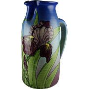 Santa Barbara Ceramic Design Floral Iris Pottery Pitcher