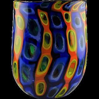 Jeremy Popelka Multi Color Murrina Studio Art Glass Vase