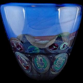Michael Pavlik Large Studio Art Glass Decorative Glass Vase