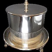 English Antique Silver Plate Biscuit Barrel ~ Elkington & Co 1891