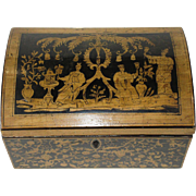 Antique George III Chinoiserie Style Penwork Box with Domed Top - c 1790